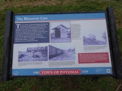 The Bluemont Line Marker image. Click for full size.