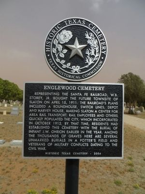 Englewood Cemetery Marker image. Click for full size.