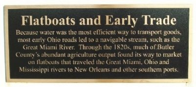 Flatboats and Early Trade Marker image. Click for full size.