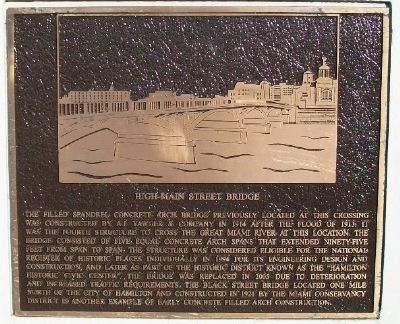 High-Main Street Bridge Marker image. Click for full size.