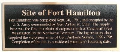 Site of Fort Hamilton Marker image. Click for full size.