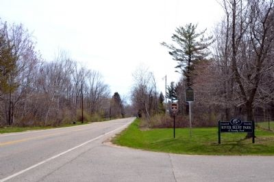 The Allegan Road Marker image. Click for full size.