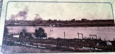 View Across Kalamazoo River<br>from Downtown Douglas ca 1905 image. Click for full size.
