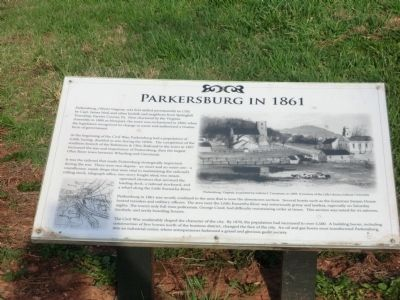 Parkersburg in 1861 Marker image. Click for full size.