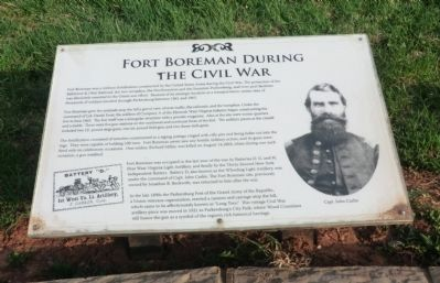 Fort Boreman During the Civil War Marker image. Click for full size.
