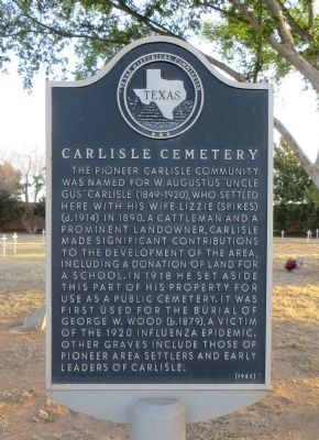 Carlisle Cemetery Marker image. Click for full size.