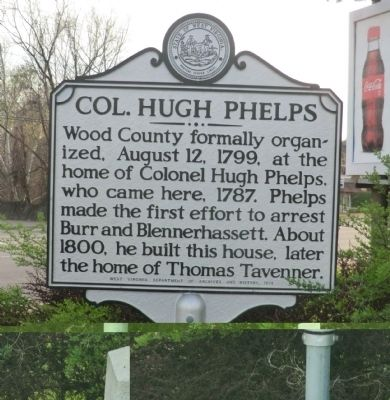 Col. Hugh Phelps Marker image. Click for full size.