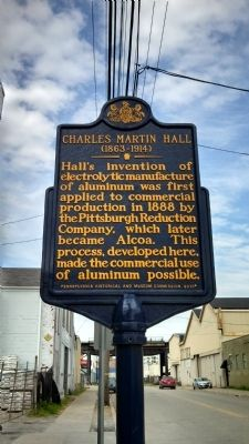 Charles Martin Hall Marker image. Click for full size.