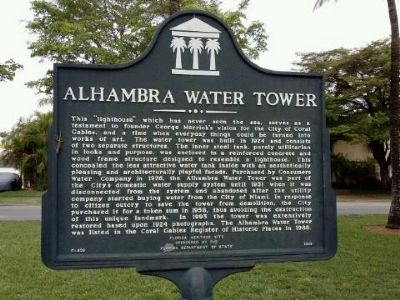 Alhambra Water Tower Marker image. Click for full size.