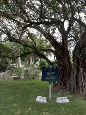 Coral Gables Plantation Packing House Marker image. Click for full size.