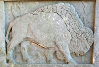 Heritage Hall Art Deco Bison Relief image. Click for full size.