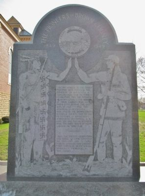 The Pioneers of Brown County Monument image. Click for full size.