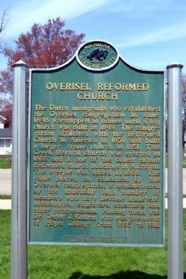 Overisel Reformed Church Marker image. Click for full size.