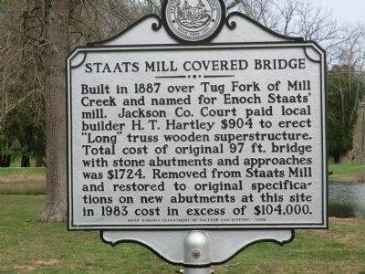 Staats Mill Covered Bridge Marker image. Click for full size.