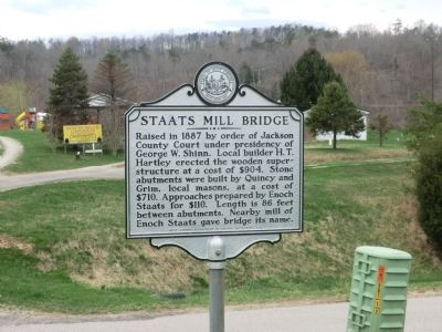 Staats Mill Bridge Marker image. Click for full size.