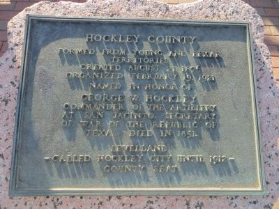 Hockley County Marker image. Click for full size.