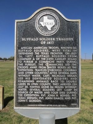 Buffalo Soldier Tragedy of 1877 Marker image. Click for full size.