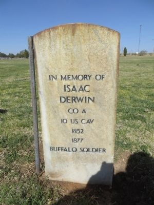 Pvt. Isaac Derwin, Buffalo Soldier image. Click for full size.