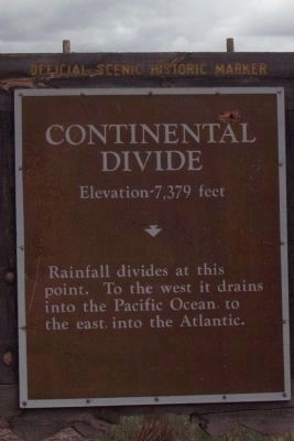 Continental Divide Marker image. Click for full size.