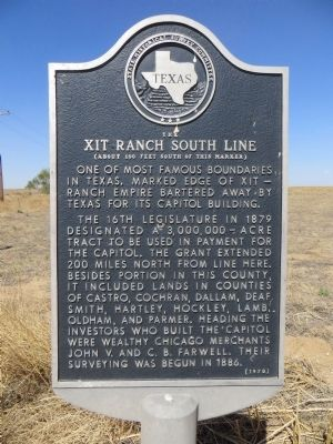 XIT Ranch South Line Marker image. Click for full size.