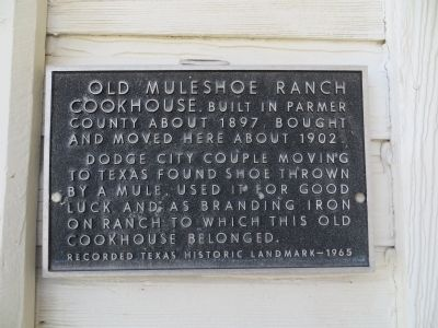 Cookhouse - Muleshoe Ranch Marker image. Click for full size.