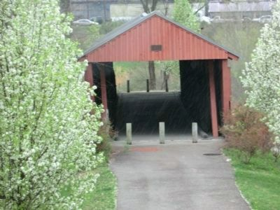 Mud River Covered Bridge Front View image. Click for full size.