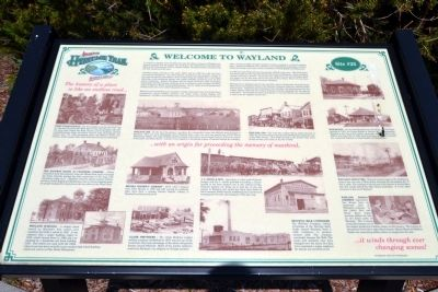Welcome to Wayland Marker image. Click for full size.