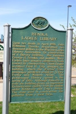 Henika Ladies Library Marker image. Click for full size.