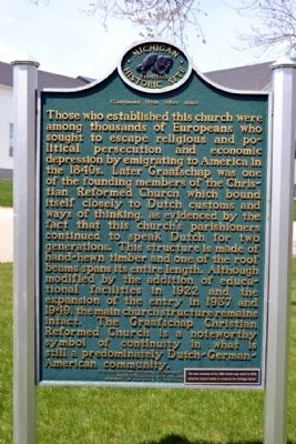 Graafschap Christian Reformed Church Marker image. Click for full size.