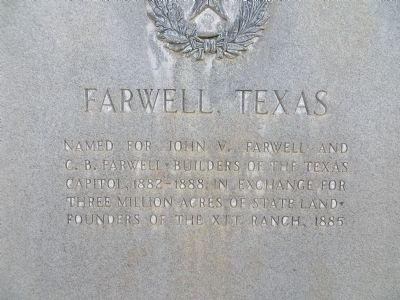 Farwell, Texas Marker image. Click for full size.