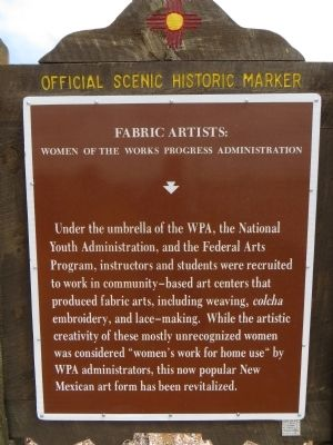 Fabric Artists: Women of the WPA Marker image. Click for full size.