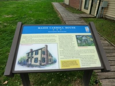 Madie Carroll House Marker image. Click for full size.