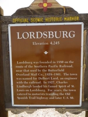 Lordsburg Marker image. Click for full size.