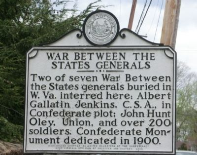 War Between the States Generals Marker image. Click for full size.