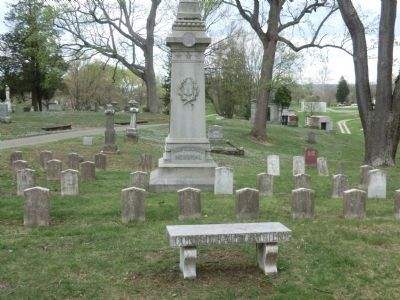 Confederate Cemetery within Spring Hill Cemetery image. Click for full size.