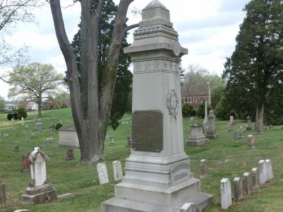 Confederate Monument within Spring Hill Cemetery image. Click for full size.
