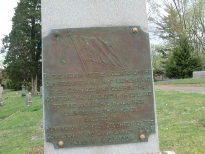 Confederate Monument Plaque image. Click for full size.