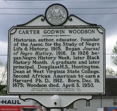 Carter Godwin Woodson Marker image. Click for full size.