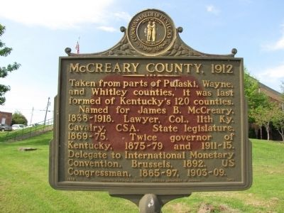 McCreary County, 1912 Marker image. Click for full size.