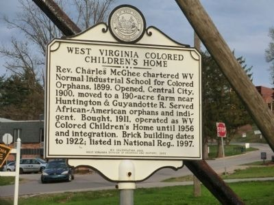West Virginia Colored Children's Home Marker image. Click for full size.