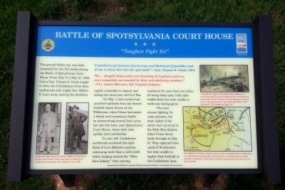 Battle of Spotsylvania Court House Marker image. Click for full size.