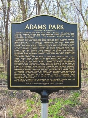 Adams Park Marker image. Click for full size.
