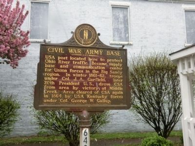 Civil War Army Base Marker image. Click for full size.