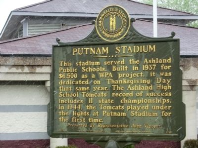 Putnam Stadium Marker image. Click for full size.