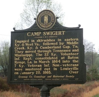 Camp Swigert Marker-Side 2 image. Click for full size.