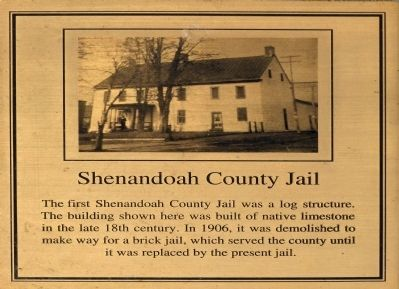 Shenandoah County Jail Marker image. Click for full size.