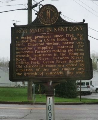 Iron made in Kentucky Marker image. Click for full size.