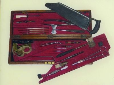 Confederate Surgeon's kit used in the Shenandoah Valley image. Click for full size.
