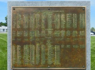 Here Lie the Confederate Soldiers Named Below image. Click for full size.