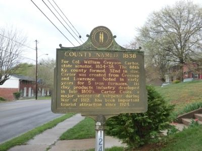 County Named, 1838 Marker image. Click for full size.